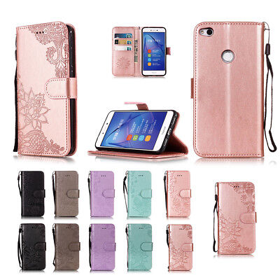 Magnetic Wallet Case PU Leather Card Slot Stand Cover for Huawei P8 P9 Lite 2017