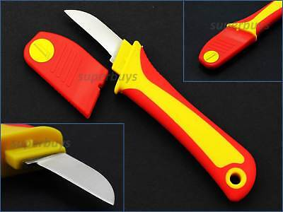 180mm Straight Blade Insulated Electricians Knife Wire Remover Cable Cutter Cut