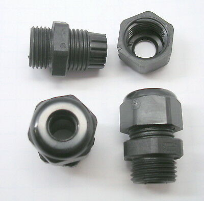 """(25) Waterproof NYLON Cable Gland .16""""- .31"""" (4-8mm) PG-9 HSK-K  Strain Relief"""
