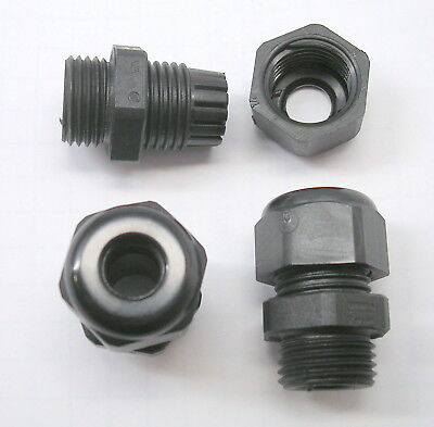 """(10) Waterproof NYLON Cable Gland .16""""- .31"""" (4-8mm) PG-9 HSK-K  Strain Relief"""