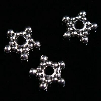 150PCS Tibetan Silver Metal Star-shaped Spacer Beads suitable for jewelry ZL225