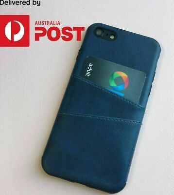 NEW Leather Back Cover Case Skin Opal Credit Cards Slots for iPhone 7/8/ Plus