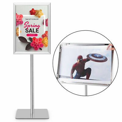 Adjustable Pedestal Poster Stand Aluminum Sign Holder 11 x 17 Inches Graphics