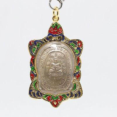Thai Amulet pendant Magic Turtle LP Liw Buddha pendant Good Luck Safe Charm,No.3
