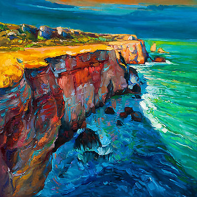 Australia art print painting great ocean road victoria seascape Framed canvas