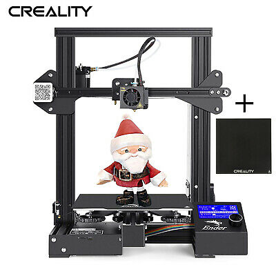 New Creality Ender 3 + Glass Bed 220X220X250mm DC 24V Thermal Runaway Protection