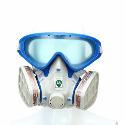 Dustproof Respirator Mask Air Protection Breathing Chemical Gas Double Filter