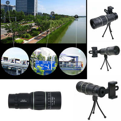Day Night Vision 16X52 HD Optical Dual Focus Monocular BAK4 Hiking Telescope US