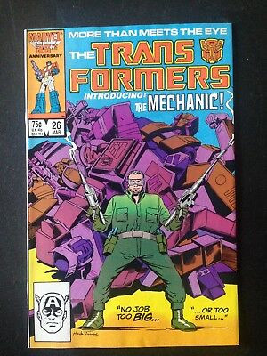 "Transformers #26 (1987) VF ""1st app of The Mechanic, Optimus Prime's funeral"""