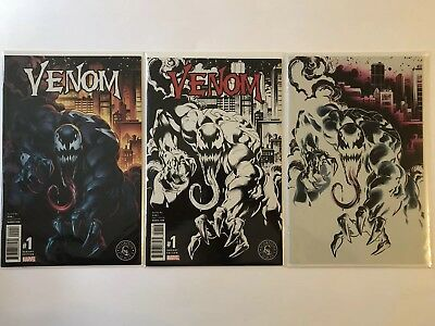 Venom #1 Scorpion Exclusive Set By Mark Bagley With HTF Negative Variant