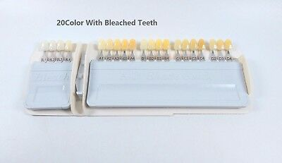 2Sets Ivoclar Vivadent Dental Shade Guide 20Colors A-D With Bleached Hot Sale