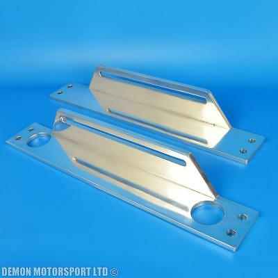 Oil Cooler Mounting Bracket Kit (Top And Bottom Support) Polished Alloy