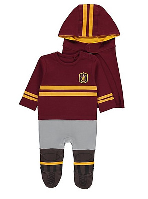 Baby Boys Harry Potter Quidditch George All In One Bodysuit Fancy Dress Costume