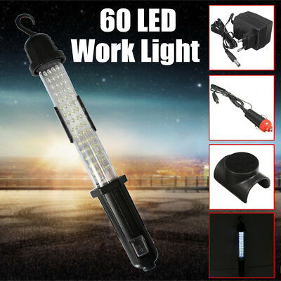 Large 60 LED Rechargeable Work Inspection Torch Light Wand Camping Caravan
