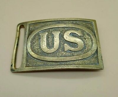 US American Army Cavalry Model 1875 Indian War Brass Belt Buckle MUST SEE