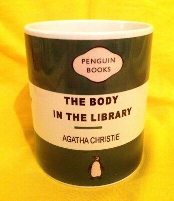 Penguin Book Cover-Agatha Christie The Body In The Library-On A  Mug