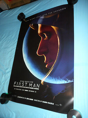 "Ryan Gosling FIRST MAN orig movie poster one sheet DS 27""x40"" Neil Armstrong v2"