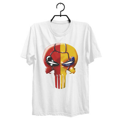Crossover Logo Workout  Deadpool T-Shirt Distressed Punisher Skull Free Shipping