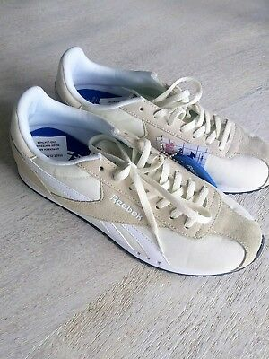 REEBOK ROYAL FOAM Lite Ortholite Leather White   Gray Shoes New Sz 7 ... 9a008ed7e