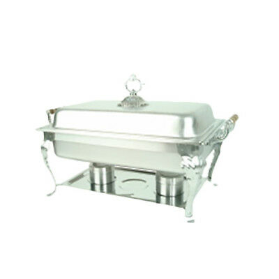 Thunder Group 8 Qt Full Size Stainless Steel Deluxe Chafer w/ Wood Handles