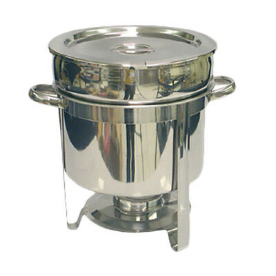 Thunder Group 11 Qt Stainless Steel Round Marmite Chafer w/ Welded Frame