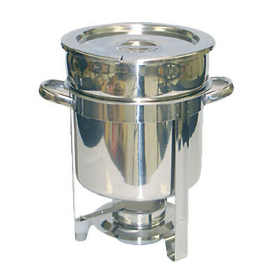 Thunder Group 7 Qt Stainless Steel Round Marmite Chafer w/ Welded Frame