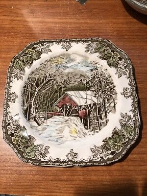 """JOHNSON BROTHERS the FRIENDLY VILLAGE SQUARE SALAD PLATE 7 1/2""""  made England"""
