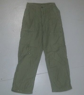 Vietnam U.s. Og-107 Pants Cotton Sateen - Good Used Condition Issue Us Made