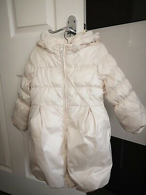 Gap Girl Cream Hooded Puffer Coat /Jacket age 4 - Fantastic Condition@ RRP45