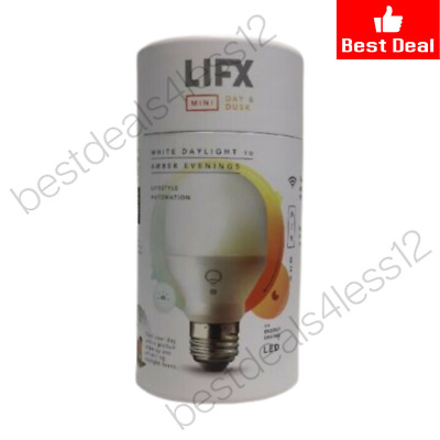 (New) LIFX  Mini DAY to DUSK LED Light Bulb 800-Lumen, 9W Dimmable A19