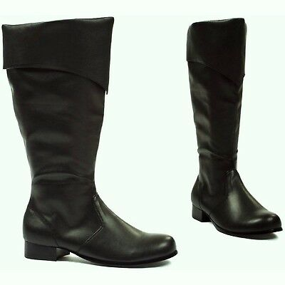 Ellie's Shoes Bernard Black Costume Boots Men's Adult Size M(10-11) Brand New