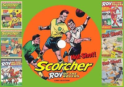 Scorcher Comic & Annuals + Roy Of The Rovers + Hot Shots Comics On DVD Rom