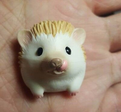 Hedgehog Head Animal PVC Mini Figurine Figure Brooch
