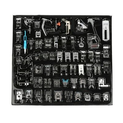 62Pcs Presser Foot Press Feet For Brother Singer Domestic Sewing Machine Kit Set