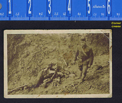 WWI Death on the Battlefield - REAL PHOTO RPPC