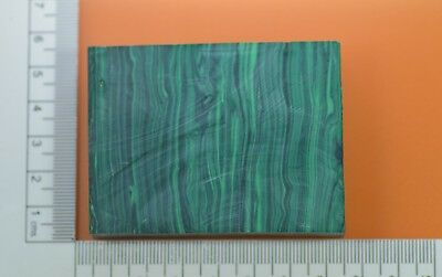 105.48gr Composite Banded Malachite Lab Created Faceting Rough Stone