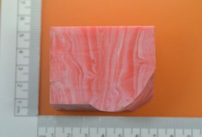 123.6gr Composite Asian Pink Coral Lab Created Faceting Rough Stone
