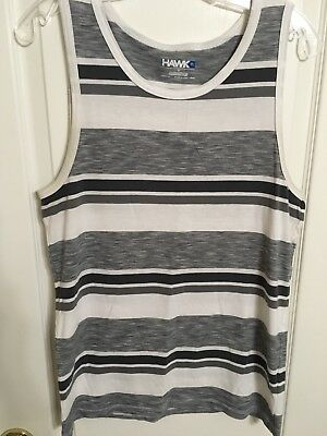 22d03a83a6dc4 PACSUN MENS BOXY Fit S S T-Shirt Medium White Gray Striped -  9.00 ...