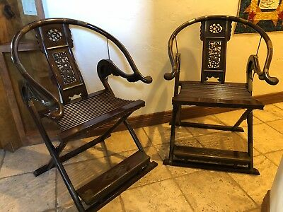 Rosewood Chinese Hunting Chairs