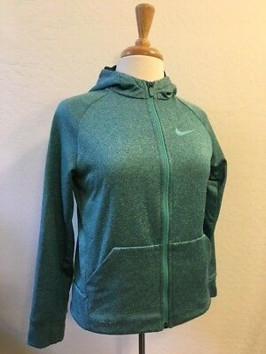 NIKE SWOOSH DRI-FIT Girls Large Full Zipper Hoodie