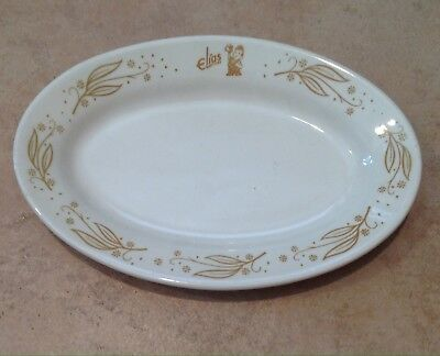 9.5 Inch Oval  Elias Brothers Big Boy Platter/plate