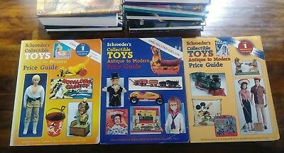 Vintage Schroeders Collectible Toys Antique To Modern Price Guide Book Lot Of 3