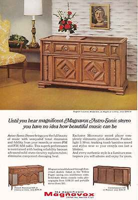 1966 Magnavox: English Country Model 655 Vintage Print Ad