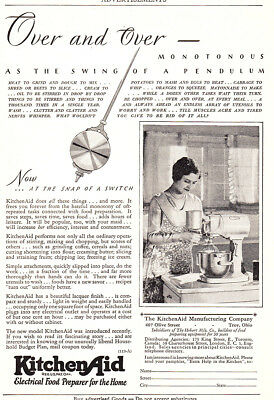 1929 KitchenAid: Monotonous As the Swing of a Pendulum Vintage Print Ad