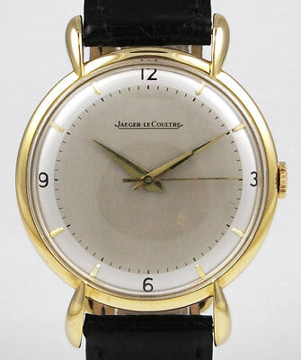 Jaeger LeCoultre 18K Manual Wind - Large Size - Silver 2Tone Dial (1945)