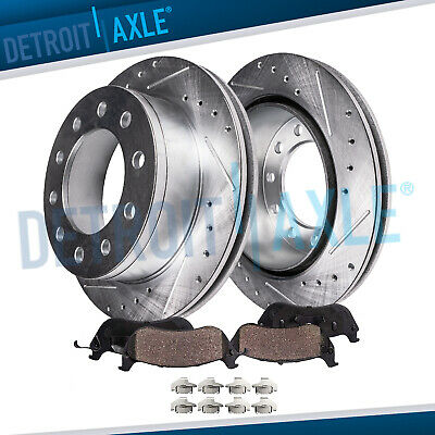 REAR. DRILLED Rotors + Ceramic Pads 2003 - 2008 2009 2010 2011 Lincoln Town Car
