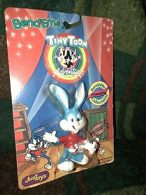 NEW Tiny Toons Adventures Just Toys BendEms BUSTER BUNNY Bendable Action Figure
