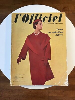 L'OFFICIEL Magazine N: 391-392 October 1954.Vintage