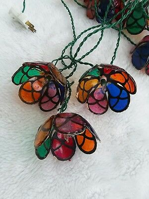 Vintage Patio String Lights Stained Glass Look/Style Decor