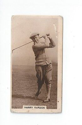 Golf HARRY VARDON Millhoff 'Famous Golfers' Real Photo Cigarette Card 1928